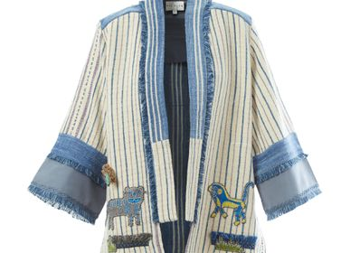 Ready-to-wear - Rice Field Embroidered Open Kimono - ATELIER PICHITA