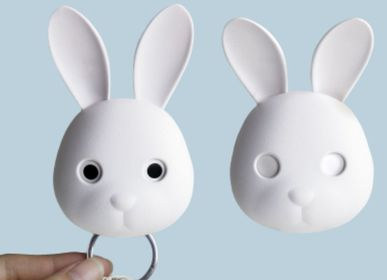 Other wall decoration - Bella Bunny Keyring: Collection Animals Pet Rabbit - QUALY DESIGN OFFICIAL