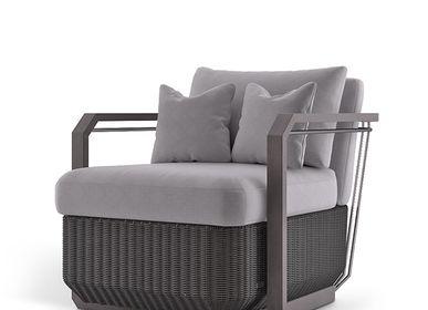 Lawn armchairs - HAMPTON  ARMCHAIR - LUXXU