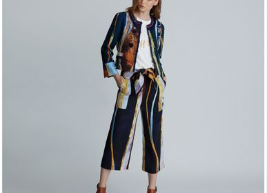 Ready-to-wear - Graphic Print Waist-Tied Culotte - ATELIER PICHITA