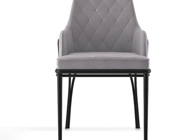 Lawn chairs - CHARLA GREY  DINING CHAIR - LUXXU
