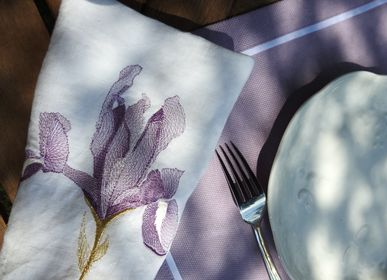 Kitchen fabrics - IRIS anti-stain linen placemat  - ARTIPARIS