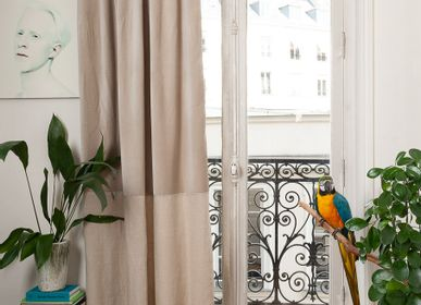 Curtains / window coverings - Curtain DUO in velvet cotton and linen - EN FIL D'INDIENNE...