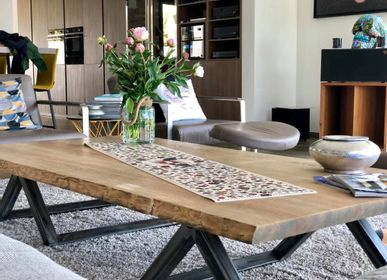 Tables pour hotels - Table basse Live Edge  - L'ATELIER BIS
