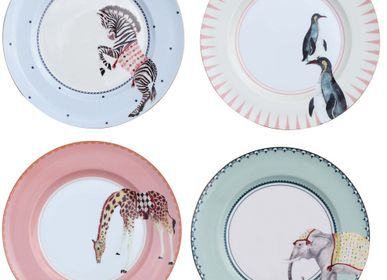 Everyday plates - Carnival Set of 4 Plates - 26,5cm - YVONNE ELLEN
