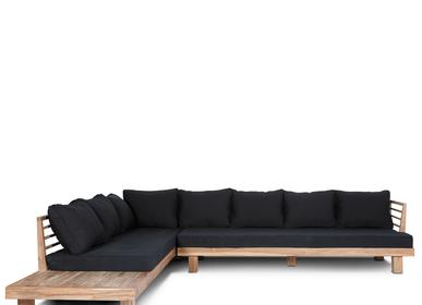 Canapés de jardin - Sofa STRAUSS L Black - DAREELS