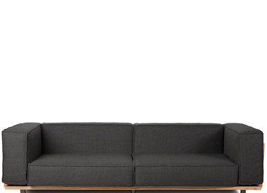 sofas - Sofa VIVALDI 240 Black - DAREELS
