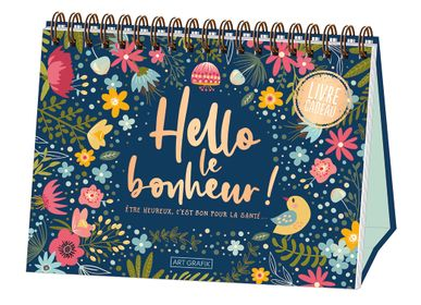 "Gift - Spiral binded book ""Hello le bonheur! "" - ART GRAFIK INTERNATIONAL"