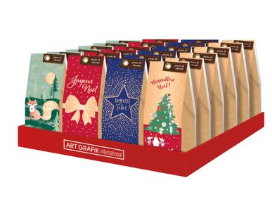 "Chocolate - Chocolate Beans Display 70g ""Christmas/New Year"" 4 boxes assortment included - ART GRAFIK INTERNATIONAL"