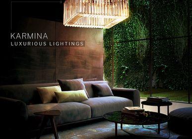 Decorative objects - KARMINA Square I Chandelier - MAZLOUM LIGHT