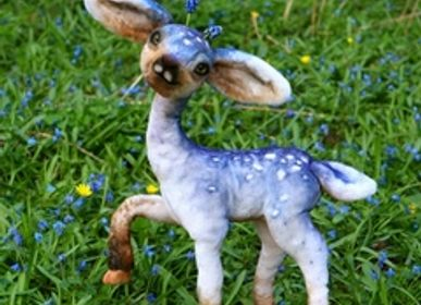 Soft toy -  Fantastic Muscari fawn - KATERINA MAKOGON