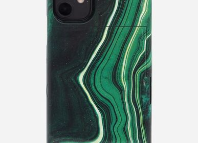 Travel accessories / suitcase - Mirror iPhone case : green jade - iPhone 11pro, 11, X, Xr, 6789SE - CASYX