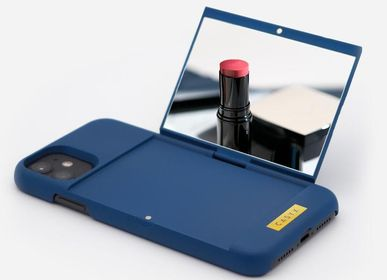 Travel accessories / suitcase - Mirror case : Soft Prussian Blue - iPhone 11pro, 11, X, Xr, 6789SE - CASYX
