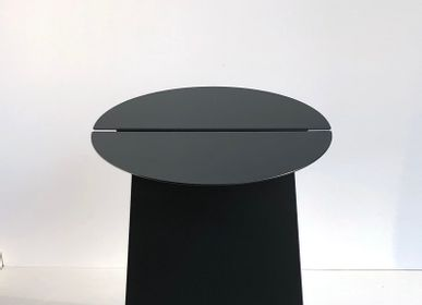 Design objects - Round side table YOUMY - black - MADEMOISELLE JO
