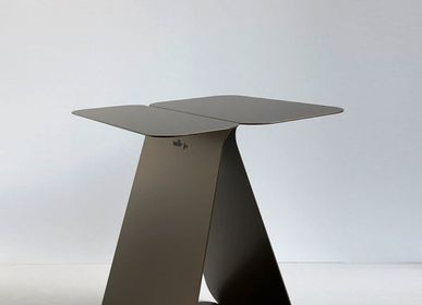 Objets design - Table d'appoint rectangulaire YOUMY - bronze anodique - MADEMOISELLE JO