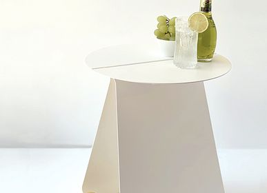 Design objects - Round symetrical side table YOUMY - lacquered white - MADEMOISELLE JO