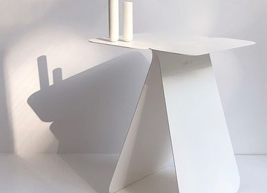 Design objects - Rectangular asymetrical side table YOUMY - white powdered - MADEMOISELLE JO