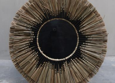 Wall decoration - Aurora Wicker Wall Mirror - NYAMAN GALLERY BALI