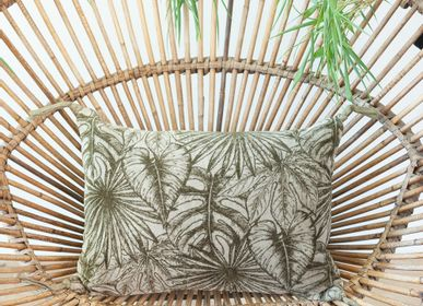 Fabric cushions - GOA cushion in printed velvet,  - EN FIL D'INDIENNE...