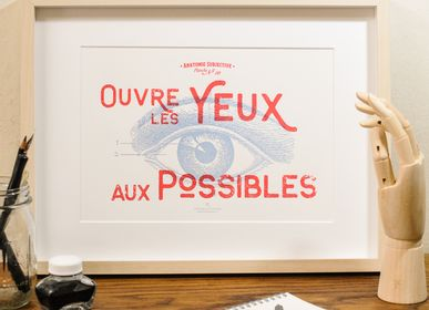 Poster - Art print Open your Eyes to Possibilities - L'ATELIER LETTERPRESS
