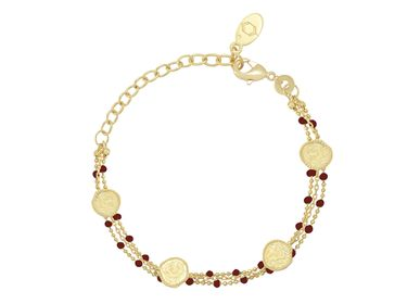 Bijoux - Bracelet OLYMPE Email rouge - COLLECTION CONSTANCE
