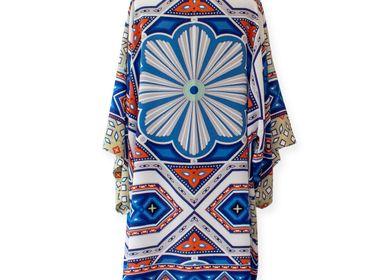 Apparel - Silk Kimono LA NUIT PORTE CONSEIL - CORALIE PREVERT PARIS