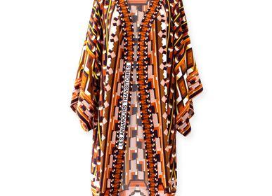 Prêt à porter - Kimono en soie LES ANAMOURS TRANSITOIRES - CORALIE PREVERT PARIS