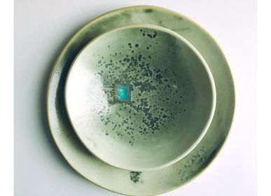 Everyday plates - Small plate collection Lichen. - L'ATELIER DES CREATEURS