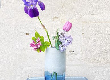 Vases - Glass and Concrete Vase - L'ATELIER DES CREATEURS