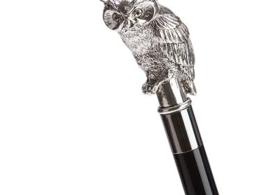 Decorative objects - SILVER OWL FOLDING UMBRELLA - PASOTTI