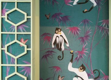 Other wall decoration - Treillage Bamboo Jungle wallpaper - LALA CURIO LIMITED