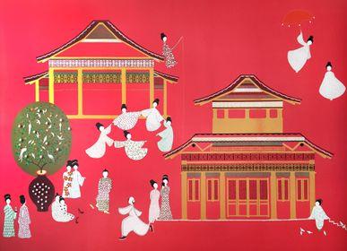 Wallpaper - Pagoda Wallpaper - LALA CURIO LIMITED