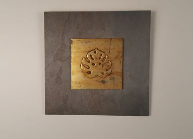 Hotel rooms - Nature Inspired & Sustainable Wall Artworks. Subject: Hand Painted Monstera Leaf - VEN AESTHETIC CREATIONS