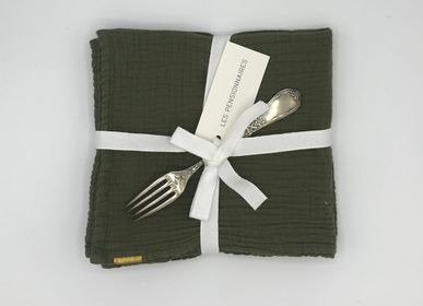 Table linen - Napkins in double cotton gauze, sold in packs of 2 - LES PENSIONNAIRES