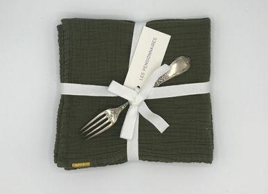 Linge de table textile - SERVIETTES DE TABLE EN DOUBLE GAZE DE COTON, lot de 2 - LES PENSIONNAIRES