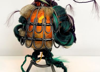 Decorative objects - ANTHROPOCENIAE LAMP - MICKI CHOMICKI HAIR BRUT