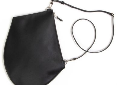 Bags / totes - Zip XL Black - New large high quality leather bag with adjustable and removable shoulder strap - MLS-MARIELAURENCESTEVIGNY