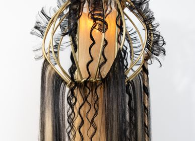 Decorative objects - QUEEN CREOLE suspended lamp - MICKI CHOMICKI HAIR BRUT