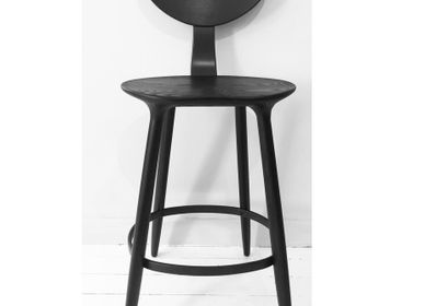 Seats - Daiku Bar Chair in Tinted Ash by Victoria Magniant - VICTORIA MAGNIANT POUR GALERIE V