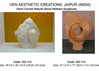 Sculpture - Nature Inspired Hand carved Sculptures for Indoors & Outdoors - VEN AESTHETIC CREATIONS