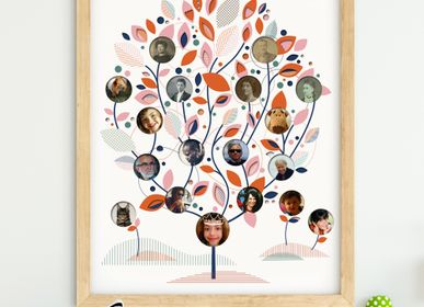 Other wall decoration - Customizable Family Tree Poster - PAPPUS ÉDITIONS