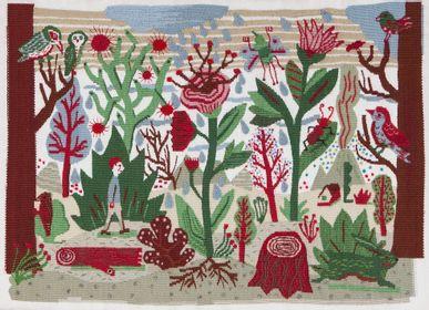 """Other wall decoration - Tapisserie d'Aubusson """"En Forêt"""" tissée main en laine - ATELIER CC BRINDELAINE"""