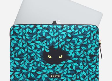 Leather goods - Laptop sleeve Macbook iPad : Spying Cat - CASYX
