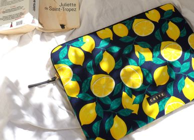 Bags and totes - Laptop sleeve Macbook iPad : Midnight Lemons  - CASYX