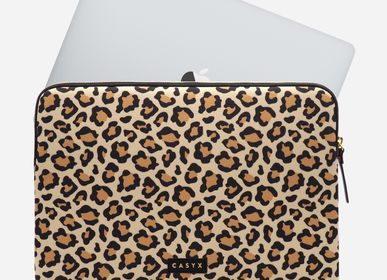 "Papeterie - Sacoche / housse d'ordinateur Macbook 15"" : Savanna Leopard - CASYX"