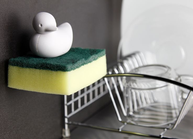 Other wall decoration - Bunny Sponge Holder :  Everyday Houseware Kitchen Bath Eco living collection 100% recyclable. - QUALY DESIGN OFFICIAL