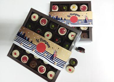 Chocolat - Boîte 10 Pompons - CHOCOLATERIE LE POMPON
