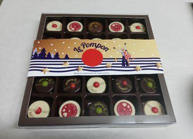 Chocolat - Coffret de Noël  25 pompons et chocolats de Noël - CHOCOLATERIE LE POMPON