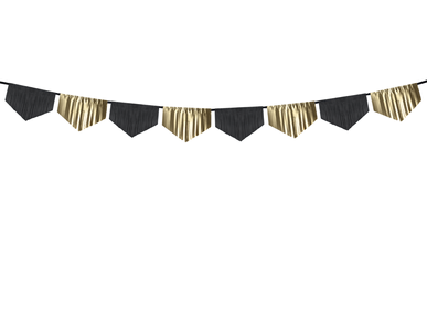 Decorative accessories - Scalloped fringe garland, mix, 3m  - PARTYDECO