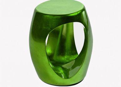 Stools - CARVED Emerald Stool - BOCA DO LOBO
